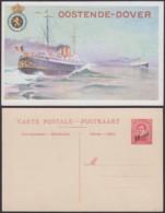 Belgique 1910- EP 10C Sur 30C Rouge - Carte Paquebot Oostende-Douvres  (6G23184) DC0923 - Stamped Stationery
