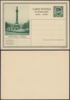 Belgique 1931- EP Képi 35C Vert : Bruxelles : Colonne Du Congrés (6G23184) DC0932 - Stamped Stationery