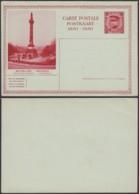Belgique 1931- EP Képi 1F Rouge : Bruxelles : Colonne Du Congrés (6G23184) DC0934 - Stamped Stationery