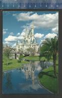 CINDERELLA CASTLE FANTASYLAND WALT DISNEY WORLD FAIRY TALE (stamp US Airmail William T Piper Aviation Pioneer) - Disneyworld