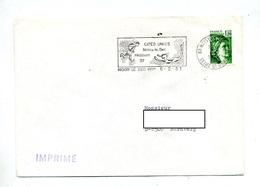 Lettre Flamme Noissy Jumelage Hebburn  Sur Roulette - Marcophilie (Lettres)