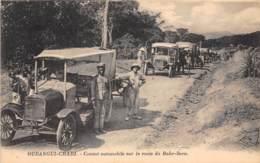 République Centrafricaine / 02 - Oubangui Chari - Convoi Automobile Sur La Route De Bahr Sara - Centraal-Afrikaanse Republiek