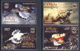 WWF -  MALDIVES  - FISHES - 2004 - 4 V. - MNH  - MARINE LIFE - - W.W.F.