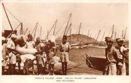 Aden / 38 - Maala Village - Native Wharf Labourers And Policemen - Belle Oblitération - Yémen
