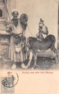 Aden / 45 - Donkey Man Wittr Trick Monkey - Yémen