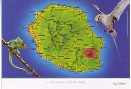 Ile De La Reunion. Ed Serge Gelabert 2014 . 112 Carte Géographique - La Réunion