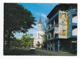 Tahiti Le Centre De PAPEETE Sipa Meubles Peugeot Coupé 204 Citroën GS Méhari VOIR DOS - Tahiti