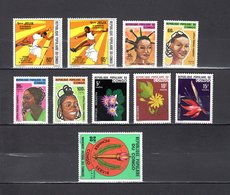 Congo   1976 .  Y&T  Nº   422/423-424/427-428/430-431   *   Sin Goma - República Democrática Del Congo (1964-71)