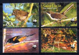 St Lucia - 2001 - Endangered Species/Birds Of St Lucia - MNH - St.Lucia (1979-...)