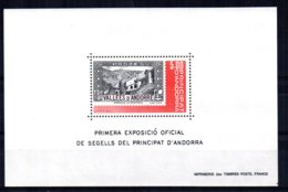 Andorra - 1982 - 1st Official Exhibition Of Andorran Stamps Miniature Sheet - MNH - Andorre Français