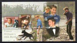 Cayman Islands - 2000 - Prince William 18th Birthday Miniature Sheet - MNH - Iles Caïmans