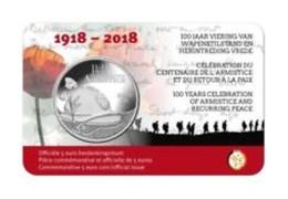 Belgie 2018   5 Euro  1918-2018  100ste Verjaardag Van WO I - 100 Ième Anniversaire Du WO I   Extreme Rare !!! - Belgique
