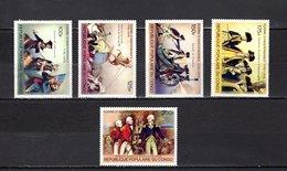 Congo   1976 .  Y&T  Nº   432/436   *   Sin Goma - República Democrática Del Congo (1964-71)
