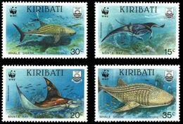 WWF -  KIRIBATI - FISHES - 1991 - 4 V. - MNH  - MARINE LIFE - GIANT RAY - - W.W.F.