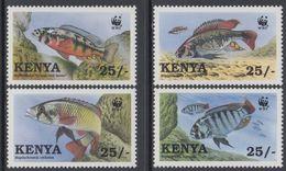 WWF -  KENYA - FISHES - 1997 - 4 V. - MNH  - MARINE LIFE - - W.W.F.