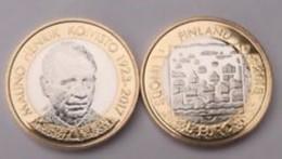Finland     2018     5 Euro Munt  Presidenten Mauno Henrik Koivisto  UNC Uit De Rol !! - Finlandia