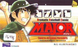 Carte Prépayée Japon * MANGA * DRAMATIC BASEBALL COMIC   (16.438)  COMIC * ANIME Japan Prepaid Card * CINEMA * FILM - Comics