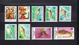 Congo   1977 .  Y&T  Nº   446/447-448/452-453/454   *   Sin Goma    ( 454   Falta Punta ) - República Democrática Del Congo (1964-71)