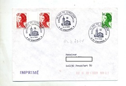 Lettre Cachet Obernai Jumelage Gengenbach Sur Roulette - Marcophilie (Lettres)