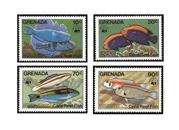 WWF - GRENADA - FISHES - 1984 - 4 V. - MNH  - MARINE LIFE - - W.W.F.