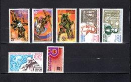 Congo   1977 .  Y&T  Nº   455/457-463/465-466   *   Sin Goma - República Democrática Del Congo (1964-71)