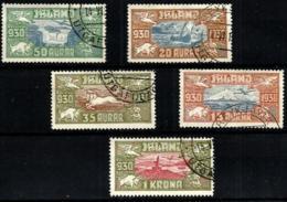 Islandia A-4/8 En Usado - Poste Aérienne