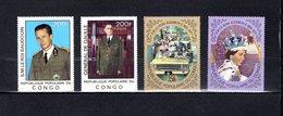 Congo   1977 .  Y&T  Nº   476/479   *   Sin Goma - República Democrática Del Congo (1964-71)
