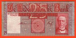 PAYS BAS - 25 Gulden Du 23 07 1938 - Pick 50 TTB - [2] 1815-… : Regno Dei Paesi Bassi