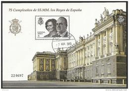 2013-ED. 4829 EN H.B. 75 ANIVERS. DE SS. MM. LOS REYES DE ESPAÑA.PALACIO REAL-USADO - 1931-Hoy: 2ª República - ... Juan Carlos I