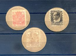 Espagne - Timbre-monnaie, Guerre Civile - Lot De 3 - (W1026) - Monetary/Of Necessity