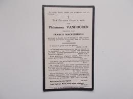 Oud Bidprentje: Philomena  VANHOOREN Wwe Francis MACKELBERGH, Zande 27/12/1848 - Ghistel 17/2/1932 - Avvisi Di Necrologio