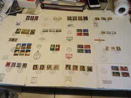 LIECHTENSTEIN  Größerer  Posten  F D C  -  BELEGE  über  220  FDC - Briefmarken