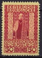 CRETE 1908-14 Austrian Office Stamps Of 1908 50 Centimes Red Vl. 21 MH - Crète