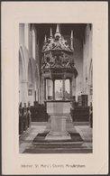 Interior, St Mary's Church, Mendlesham, Suffolk, 1908 - RP Postcard - England