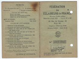 SCOUTISME - St-DENIS-de-SAINTONGE (17) - Carte De'Identité Des Eclaireurs De France De 1939 - Historical Documents