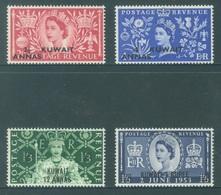KUWAIT - MLH/* . - 1953 -  ELIZABETH II CORONATION - Yv 110-113 -  Lot 18433 - Koweït