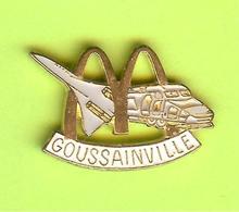 Pin's Mac Do McDonald's Ville De France Gouissainville (Avion Train) - 6BB05 - McDonald's