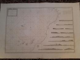 Grande Carte Charts Des Canaries 1780  Depot General De La Marine - Cartes Marines