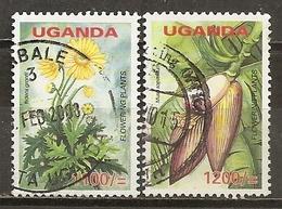Uganda 200- Fleurs Flowers Obl - Uganda (1962-...)