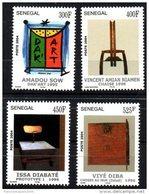 Sénégal 2004 Dak'Art 1995 Kunst Art Bauhaus Prototype Chaise Chair Stuhl 1996 1998 4 Val. RARE MNH - Senegal (1960-...)