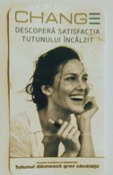 ROMANIA-CIGARETTES  CARD,NOT GOOD SHAPE-0.90  X 0.50 CM - Tobacco (related)