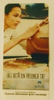 ROMANIA-CIGARETTES  CARD,NOT GOOD SHAPE-0.90  X 0.42 CM - Tobacco (related)