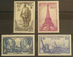 FRANCE  N°420-426-427-429 N**  Cote 76€ - Nuevos