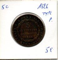 """Piémont-sardaigne. 5 C. 1826. Type Au """"P"""" - Regional Coins"""