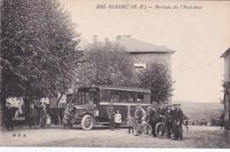 Cpa 200 SUSSAC ARRIVEE DE L AUTOBUS - France