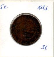 Piémont-sardaigne. 5 C. 1826. - Regional Coins