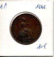 1 Penny 1846. Victoria Jeune - 1816-1901 : Frappes XIX° S.