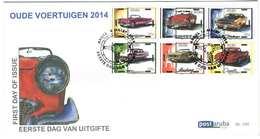 Aruba FDC E195 Zonder Adres. Oude Auto's, Oldtimers, Date Of Issue: 14-3-2014 - Curaçao, Nederlandse Antillen, Aruba