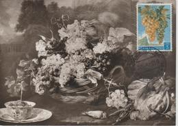 Saint Marin Carte Maximum 1958 Raisins 451 - Saint-Marin