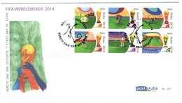 Aruba FDC E197 Zonder Adres. WK Voetbal, WorldCup Footbal In Brazil, Date Of Issue: 20-5-2014 - Curaçao, Nederlandse Antillen, Aruba